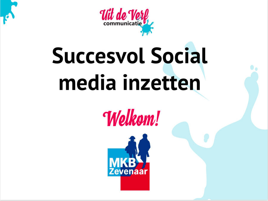 Presentatie workshop Social Media Manon Kummer
